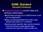 sgml standard document instances