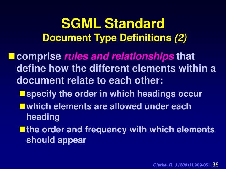 SGML Standard