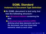 sgml standard instances document type definition