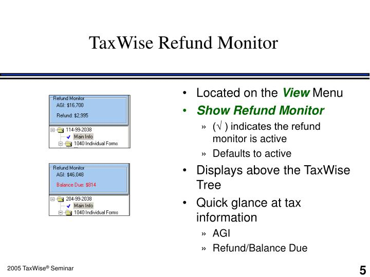 TaxWise Refund Monitor