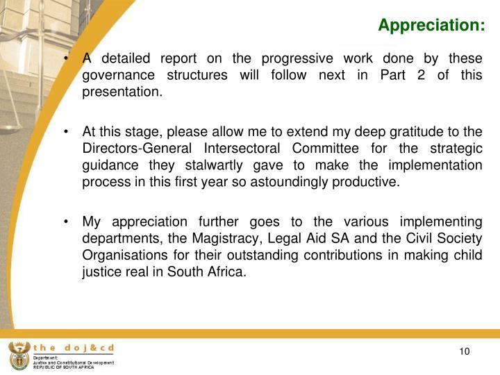 Appreciation: