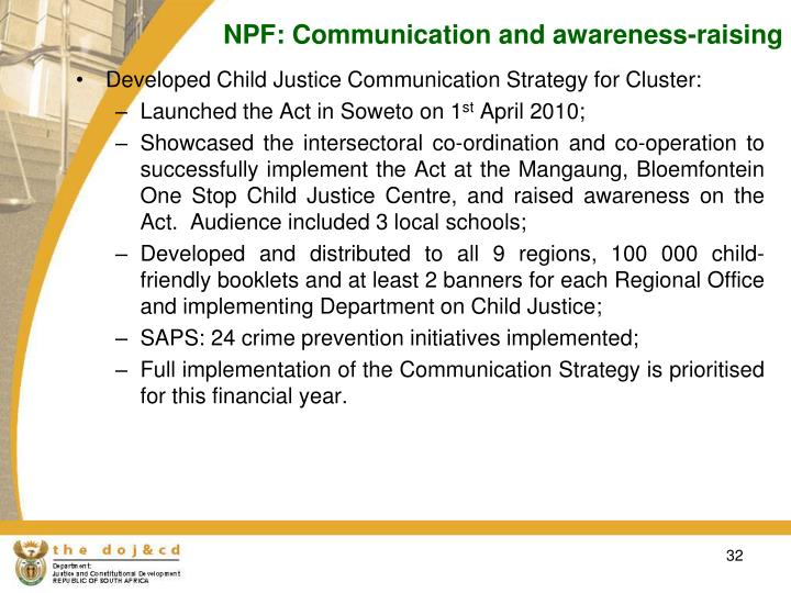 NPF: Communication and awareness-raising
