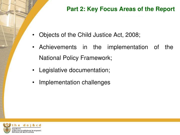 Part 2: Key Focus Areas of the Report