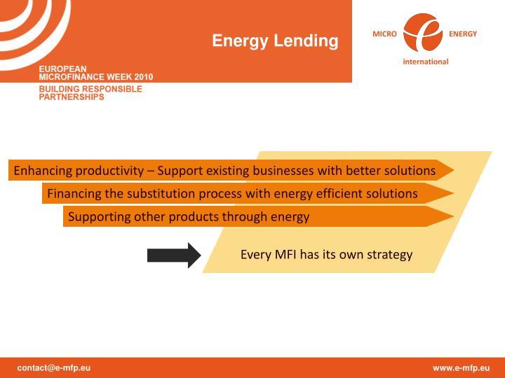 Energy Lending