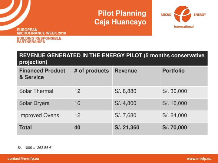 Pilot Planning