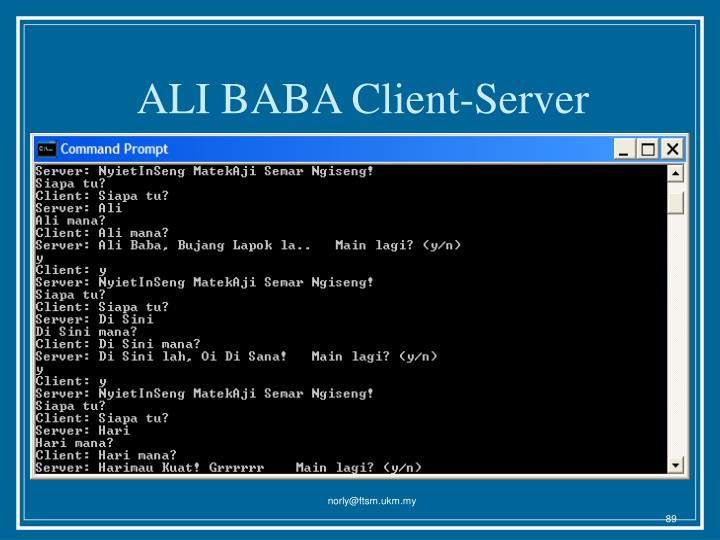 ALI BABA Client-Server
