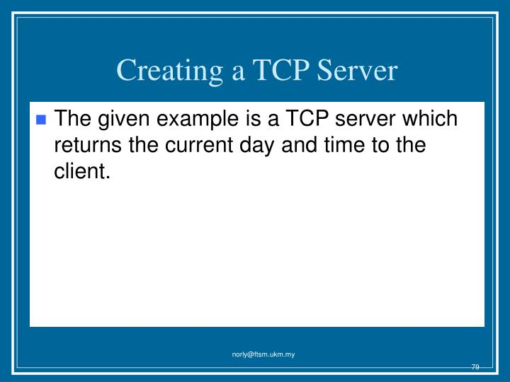 Creating a TCP Server