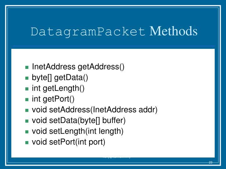 DatagramPacket