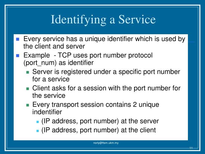 Identifying a Service
