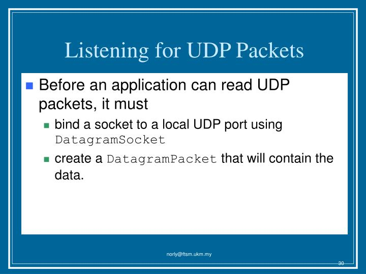 Listening for UDP Packets