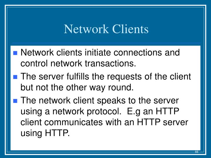 Network Clients