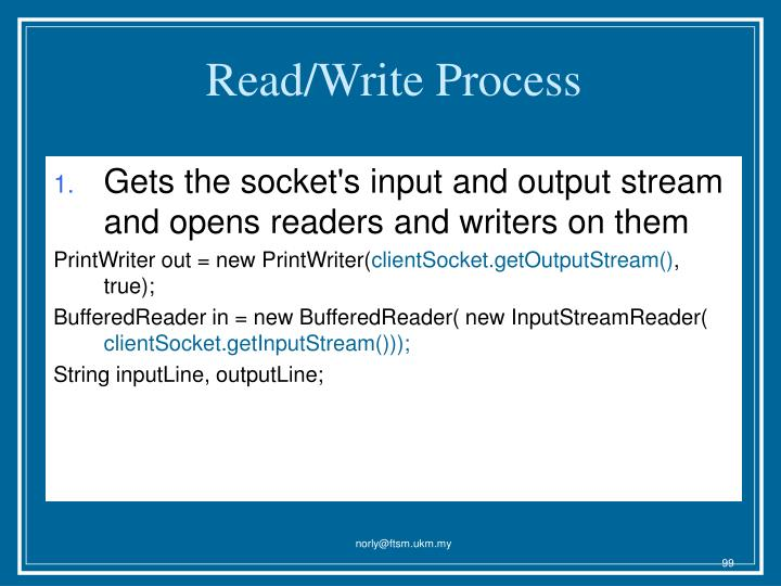 Read/Write Process