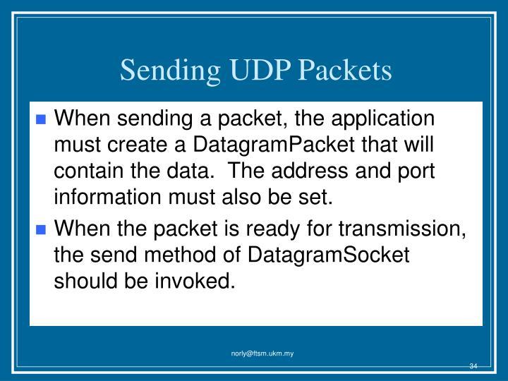 Sending UDP Packets