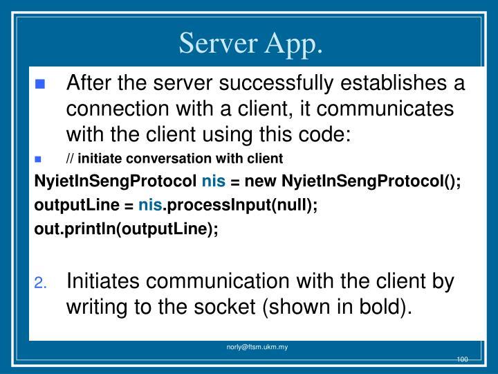 Server App.