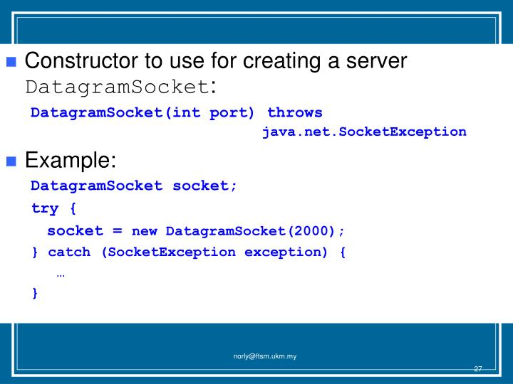 Constructor to use for creating a server