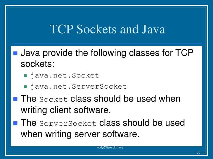 TCP Sockets and Java