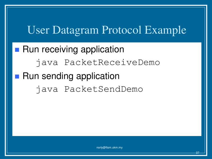 User Datagram Protocol Example
