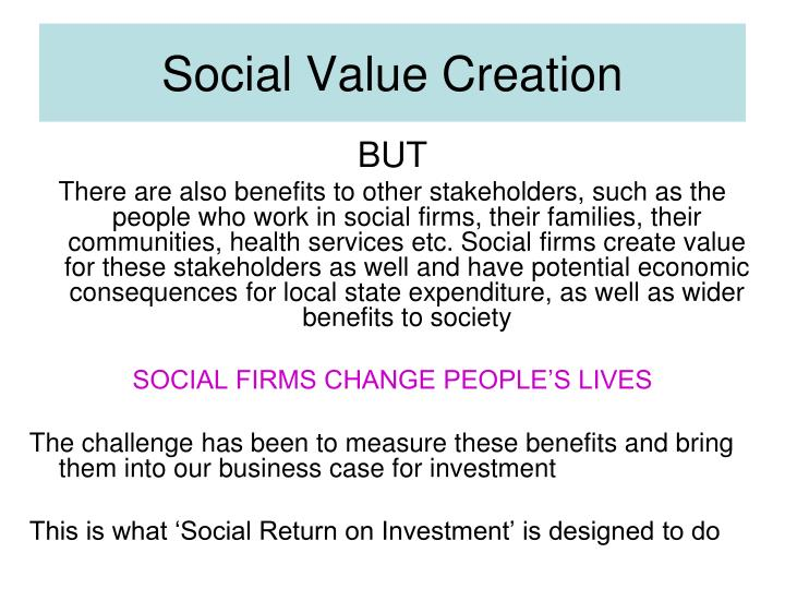 Social Value Creation