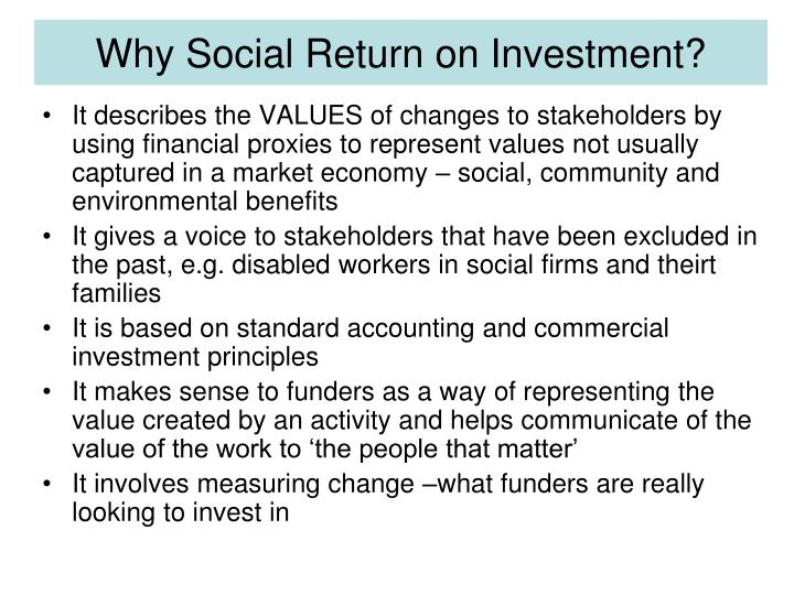 Why Social Return on Investment?