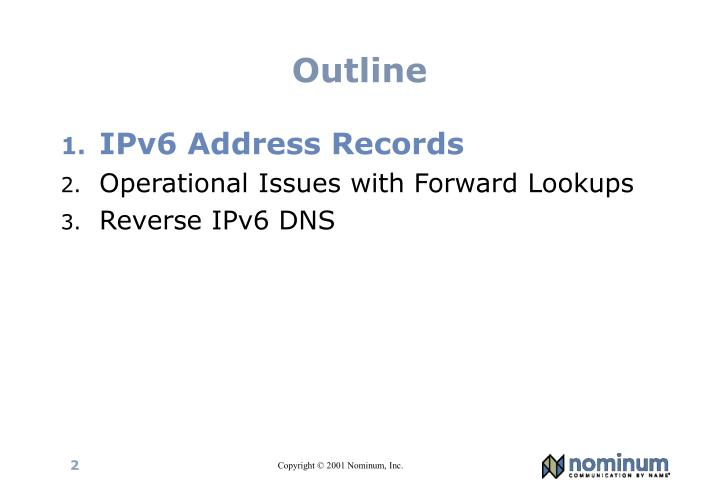 IPv6 Address Records