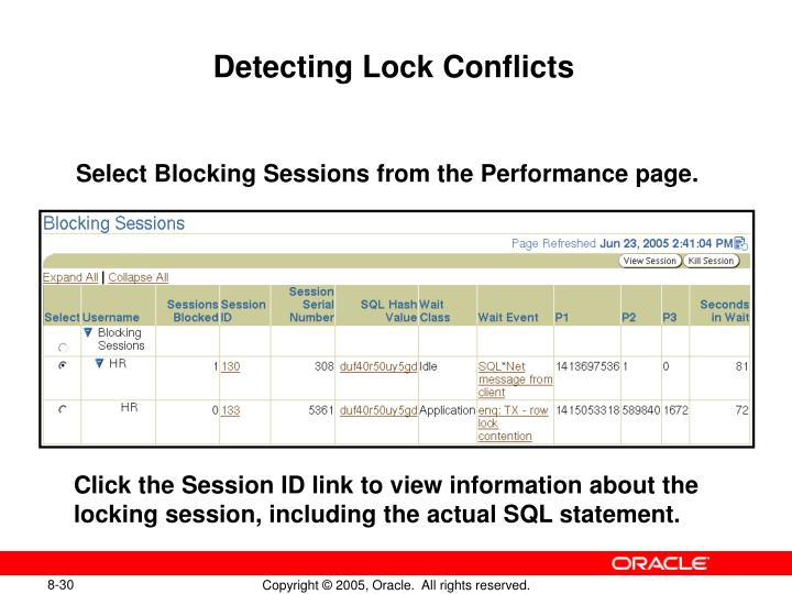 Detecting Lock Conflicts