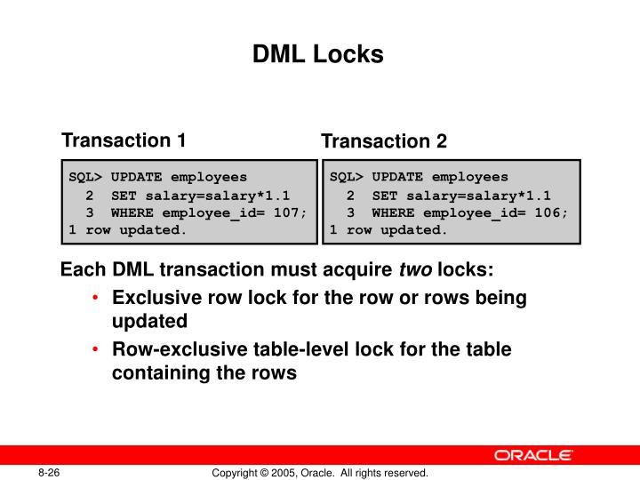DML Locks