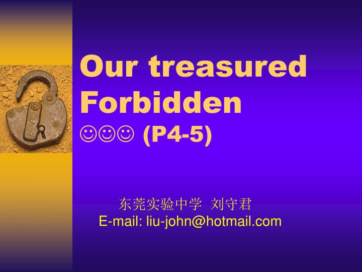 Our treasured forbidden p4 5