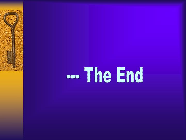 --- The End