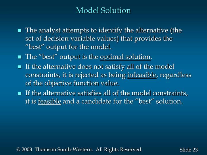 Model Solution