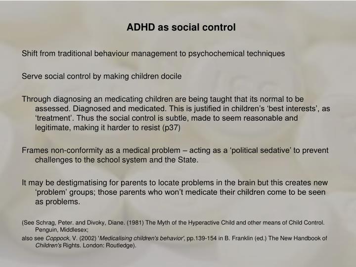 ADHD as social control