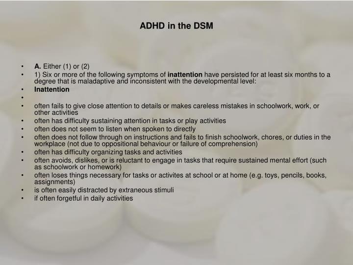 ADHD in the DSM