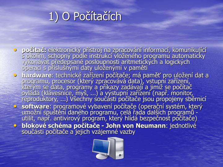 1) O Počítačích