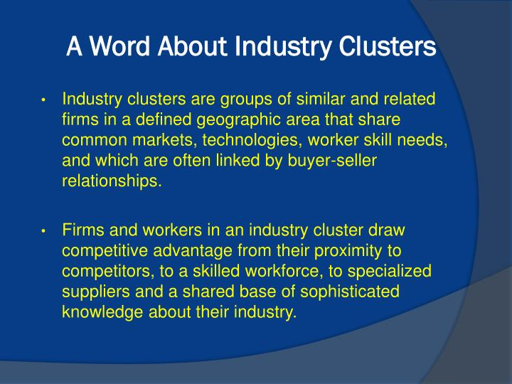 A Word About Industry