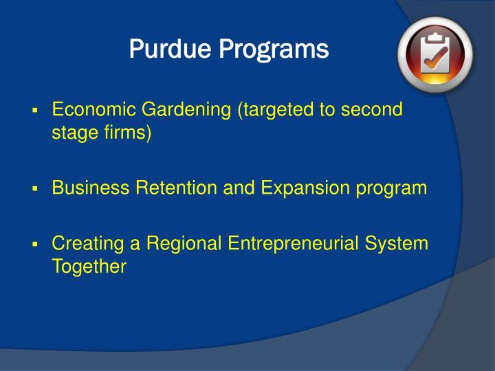 Purdue Programs