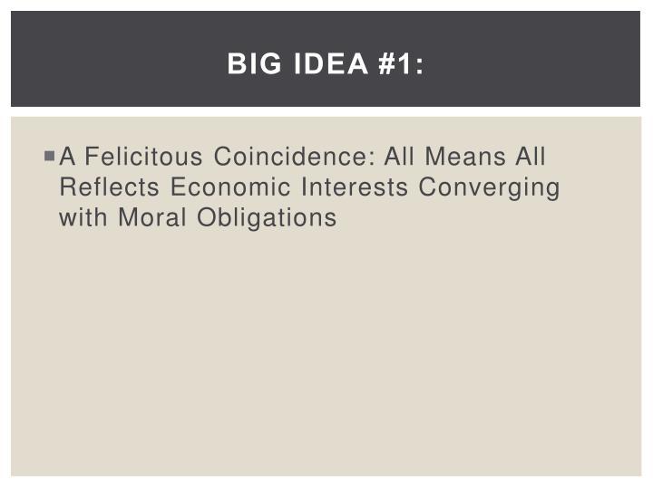 Big Idea #1: