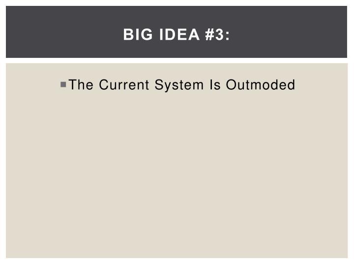 Big Idea #3: