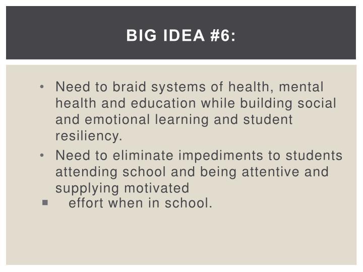 Big Idea #6: