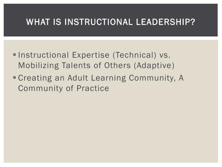 What is Instructional Leadership?