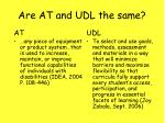 are at and udl the same