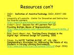 resources con t