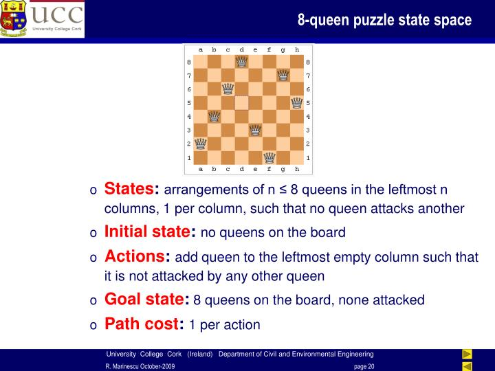 8-queen puzzle state space