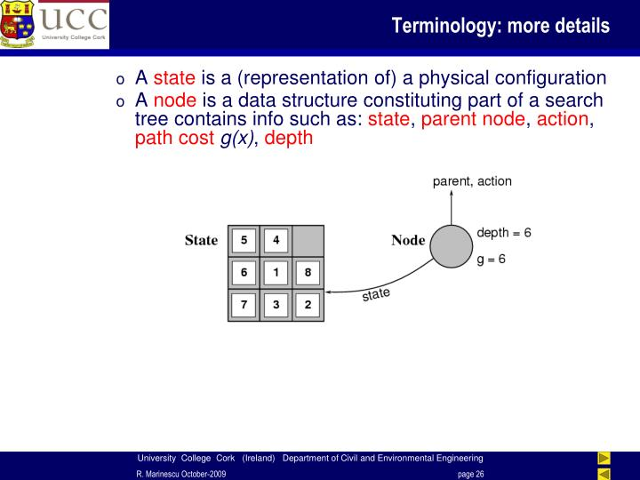 Terminology: more details