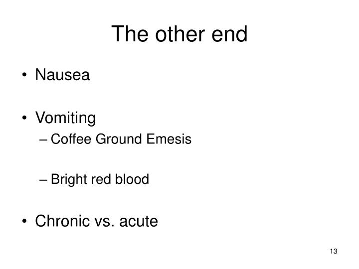 coffee ground emesis differential