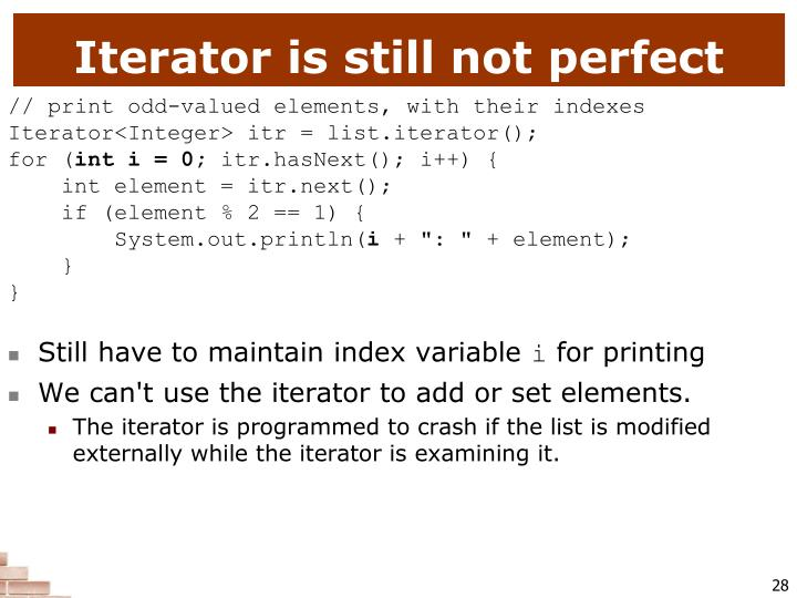 Iterator is still not perfect