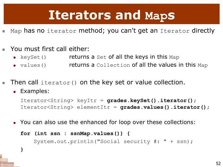 Iterators and