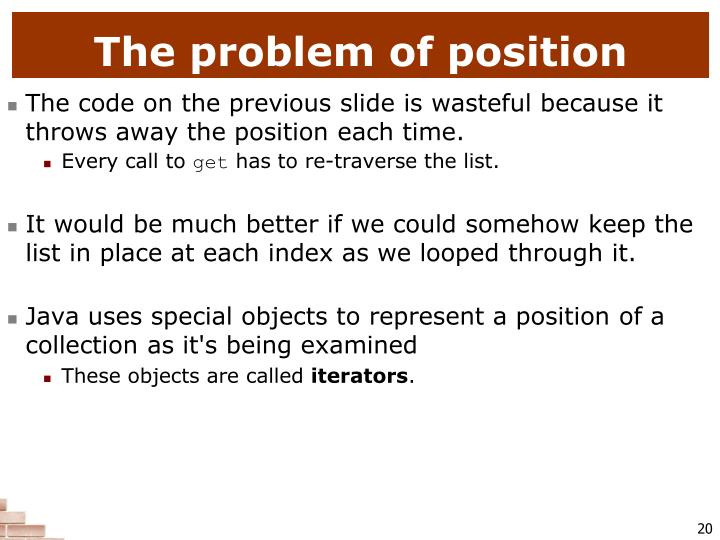 The problem of position