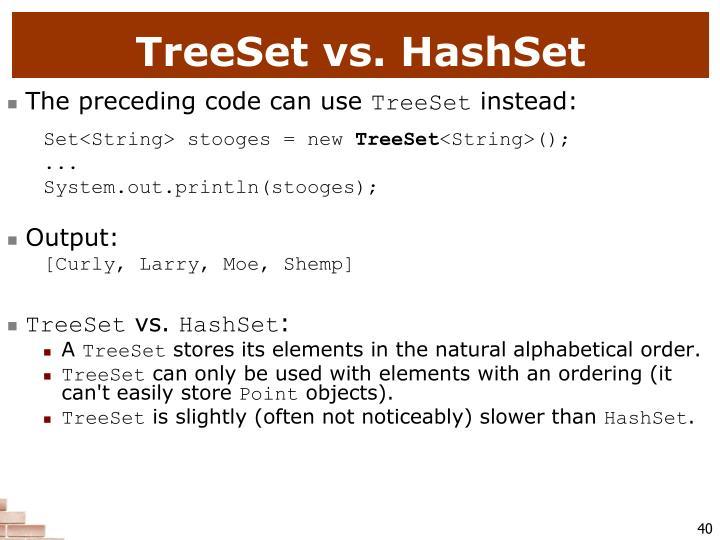 TreeSet vs. HashSet