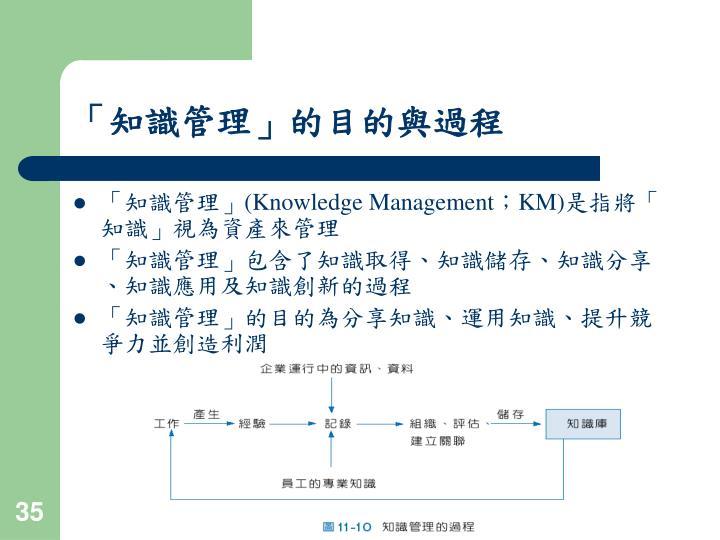 「知識管理」的目的與過程