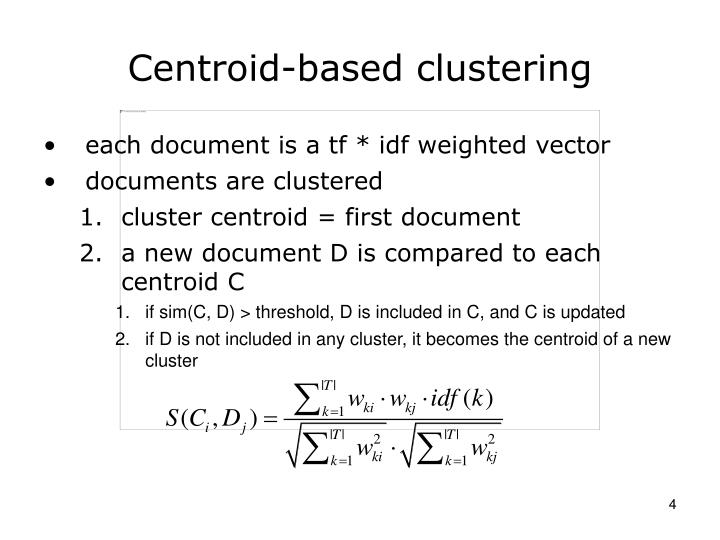 Centroid-based clustering