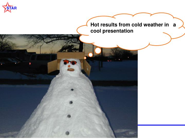 Hot results from cold weather in   a cool presentation